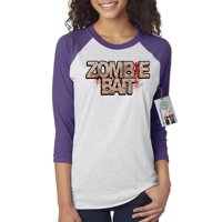 Walking Dead Zombie Bait TV Show Womens 3/4 Raglan Sleeve Shirt Top