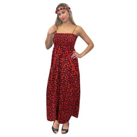 11e733bde5 LA LEELA - LA LEELA Soft Printed Swimsuit Evening Skirt Tube Dress ...
