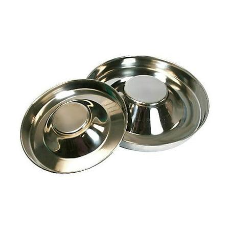 Feeding Saucer - Stainless Steel Puppy Feeding Saucer 11 Inch