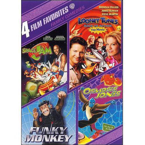 4 Film Favorites: Family Comedie - Space Jam / Looney Tunes / Back In Action / Funky Monkey / Osmosis Jones
