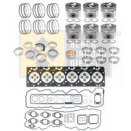 Black Diamond 04 5 07 Dodge 5 9 Cummins Engine Rebuild Kit With Pistons