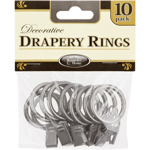Kennedy Home Collection Drapery Rings, 10 Pack