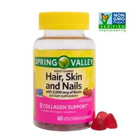 Spring Valley Vegetarian Biotin Hair, Skin, and Nails Gummies, 60 Ct