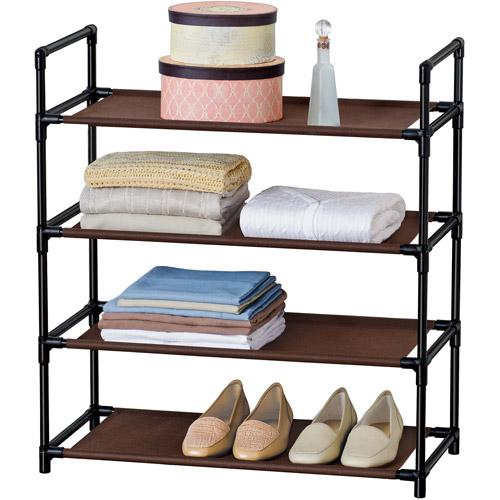 Lynk 4-Shelf Organizer, Espresso/Black