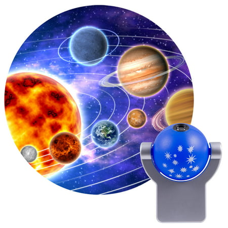 Projectables Solar System LED Plug-In Night Light, Sun and Planets Image, 11798