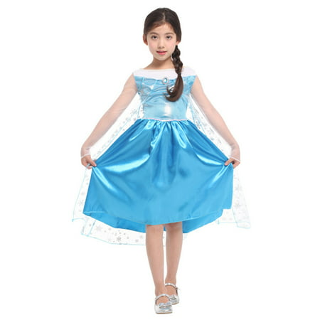 a1b7a2a7c7d40 Girls' Ice Princess Ela Dress-Up Costume Set, M - Walmart.com