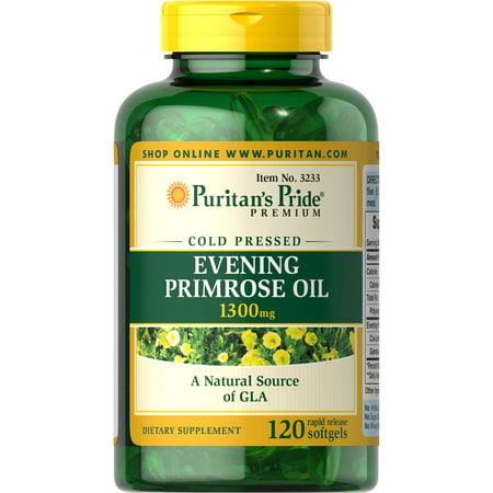 Puritan's Pride Evening Primrose Oil 1300 mg with GLA-120 (Para Que Sirve Evening Primrose Oil 1000 Mg)