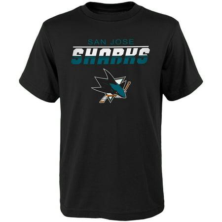 Youth Black San Jose Sharks Team Logo (Joe Thornton San Jose Sharks)