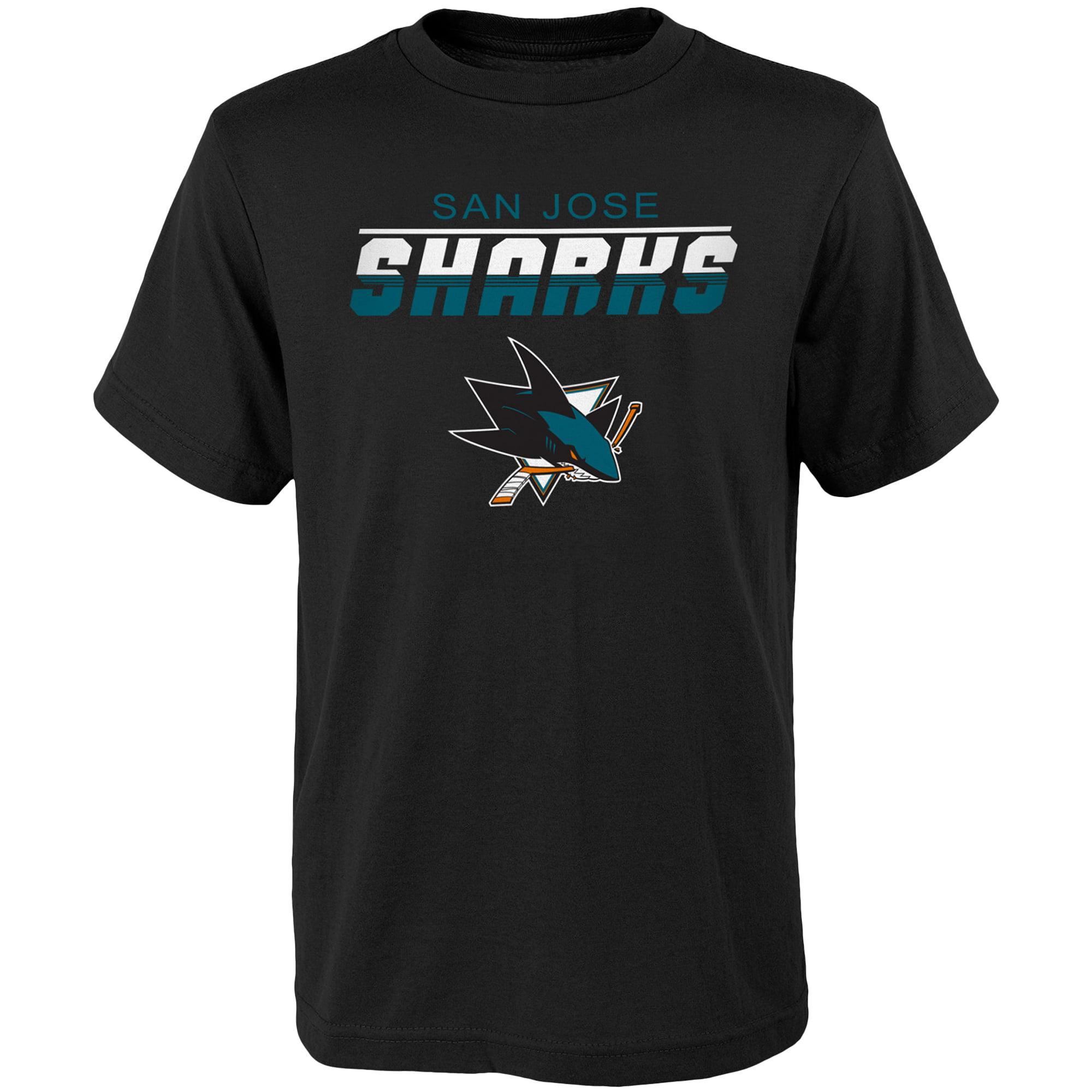 Youth Black San Jose Sharks Team Logo T-Shirt