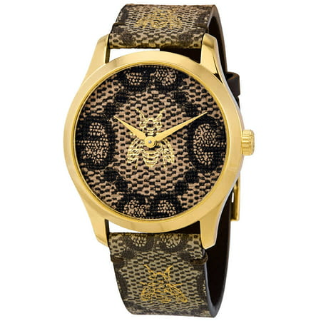 Gucci G-Timeless GG Supreme Canvas Dial Unisex Watch YA1264068 ()