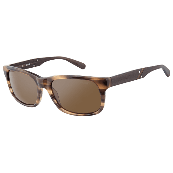 127dd321ab GUESS - Guess Men s GU6809-BRN-1 Brown Square Sunglasses - Walmart.com