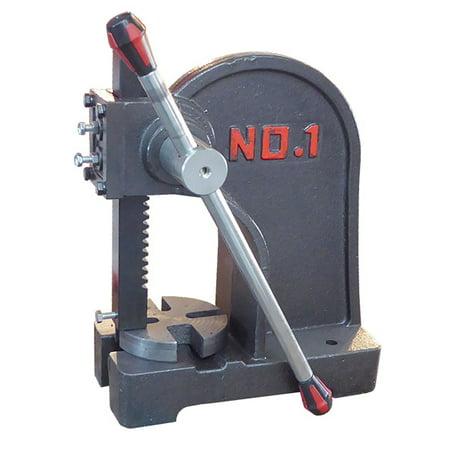 Maximum Strength Cast Iron 1 Ton Fully Adjustable Arbor Press