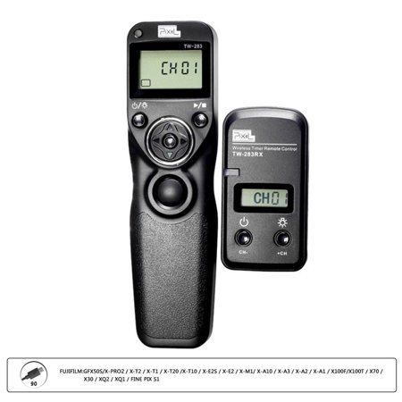 PIXEL TW-283/90 LCD Wireless Shutter Release Timer Remote Control for Fujifilm GFX50S,X-PRO2,X-T2,X-T1,X-T20,X-T10,X-E2S,X-E2,X-M1,X-A10,X-A3,X-A2,X-A1,X100F,X100T,X70,X30,XQ2,XQ1,FINE PIX S1