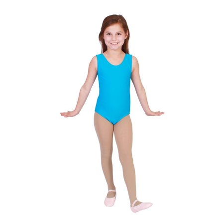 Little Girls Turquoise Full Front Lining Tank Dancewear Leotard 2-4](Full Body Leotard)