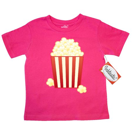 Inktastic Popcorn Movie Treat Toddler T-Shirt movies theatre theater dessert food fun cute snack old fashioned funny tees. gift child preschooler kid clothing apparel (Jl Childress Food N Fun Toddler Tray)