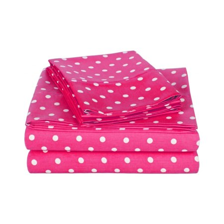 Regency 100% Cotton Rich 600 Thread Count Polka Dot Sheet Set