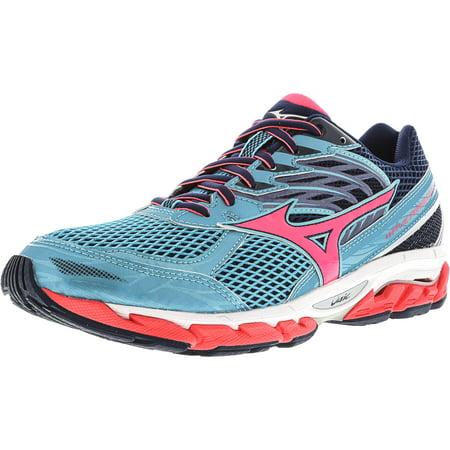 (Mizuno Women's Wave Paradox 3 Light Blue / Pink Navy Ankle-High Running Shoe - 8M)