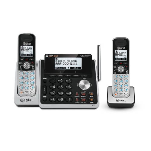 AT&T TL88102 + (1) TL88002 2 Handset Cordless Phone 2 Line by AT&T