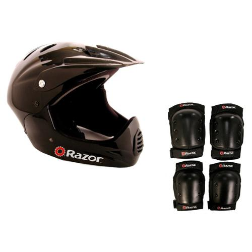 Razor Youth Full Face Riding Sport Scooter Helmet w/ Elbow & Knee Pads