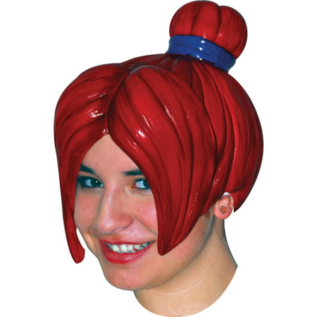 Anime 4 Latex Red Wig Adult Halloween Accessory for $<!---->