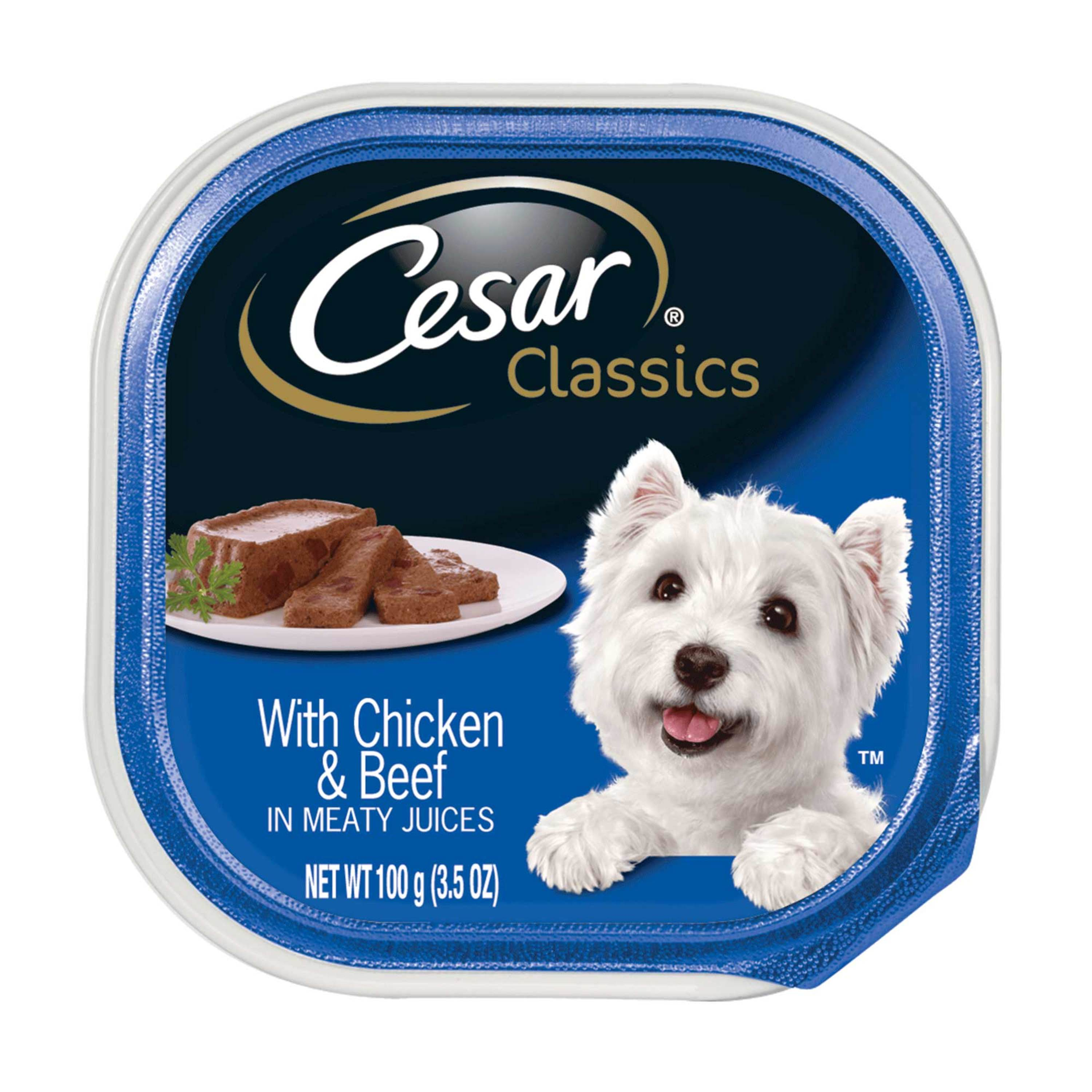 CESAR Canine Cuisine With Chicken and Beef Dog Food Tray 3.5 Ounces