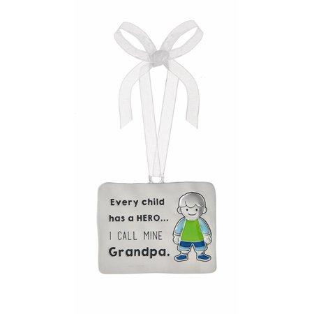 Every Child Has a Hero I Call Mine Grandpa Little Boy Decorative Ornament - By Ganz (Kids Ornaments)