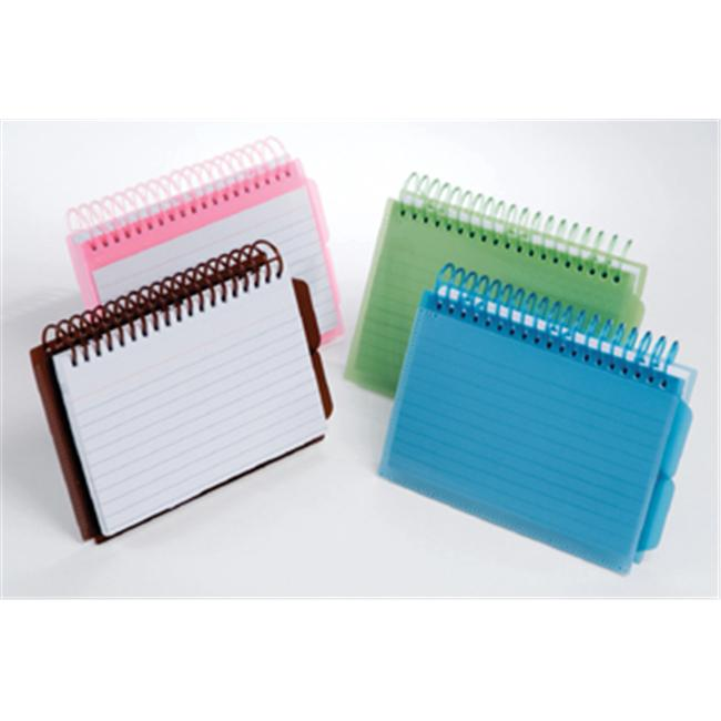Esselte Corporation ESS73138 View Front Spiral Index Cards 3X5 Poly Cover