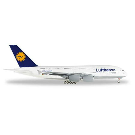 Herpa 200 Scale Commercial Private He550727 003 1 200 Lufthansa 380 Zurich Reg No  D Aimf