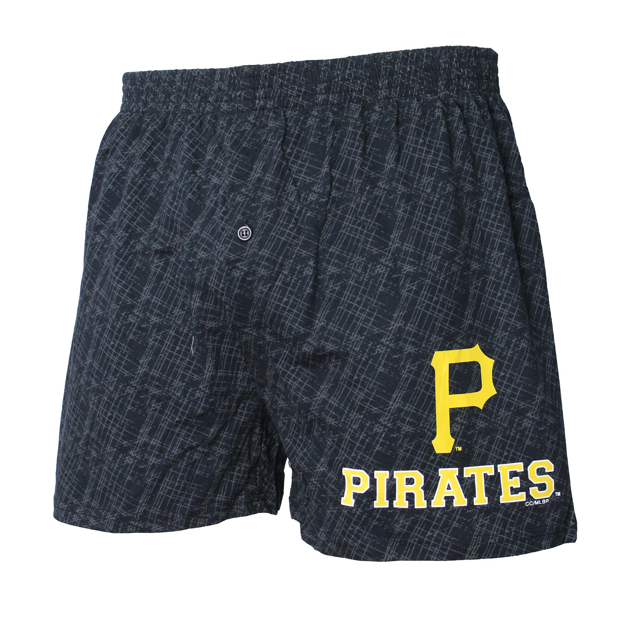 Pittsburgh Pirates Concepts Sport Showdown Knit Boxer Shorts - Black