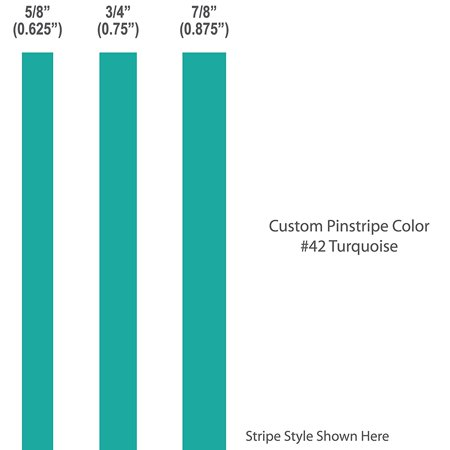 """Turquoise Vinyl - 7/8"""" inch wide Pinstripes. / TURQUOISE / car truck auto vehicle door boat bike vinyl sticker pin strip pinstriping tape custom decal / By 1060 Graphics."""