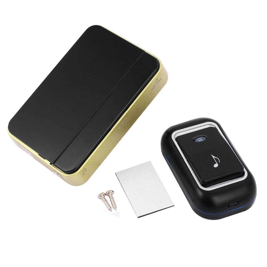 US Plug AC110-220V 36 Chimes  Cordless Bell RC Doorbell Black