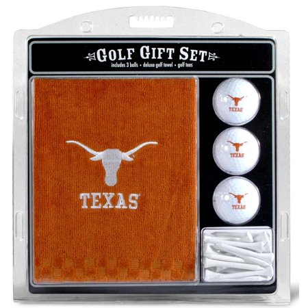 - Team Golf NCAA Texas Longhorns Embroidered Golf Towel, 3 Golf Ball, and Golf Tee Set