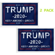 Clearance Donald Trump for President 2020 Keep America Great Flag 3x5 Feet 2 Pack with Good Quality on Grommet