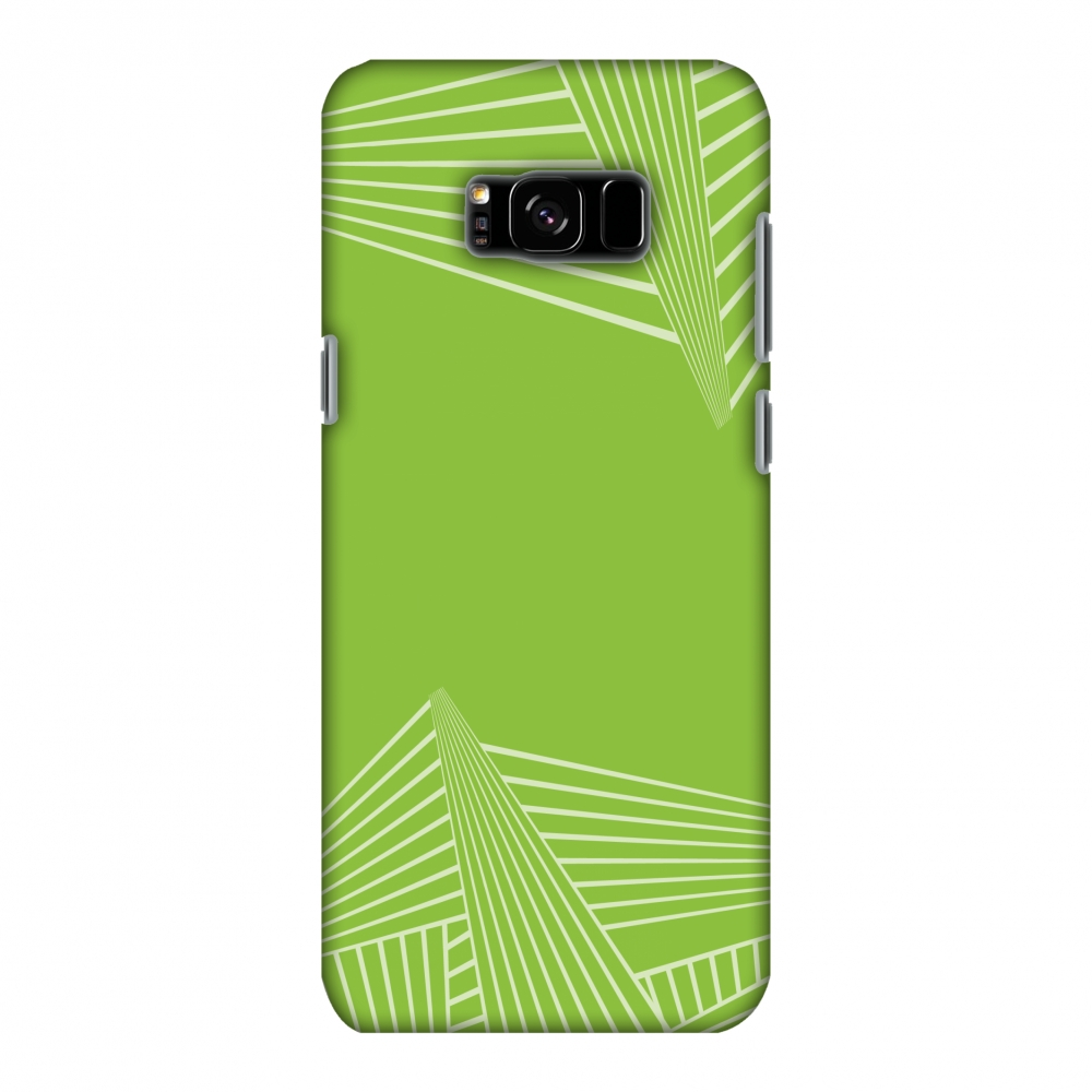 Samsung Galaxy S8 Plus SM-G955U Case - Carbon Fibre Redux Pear Green 3, Hard Plastic Back Cover, Slim Profile Cute Printed Designer Snap on Case with Screen Cleaning Kit