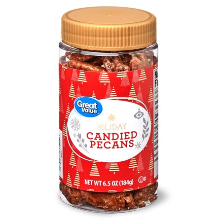 Great Value Holiday Candied Pecans, 6.5 oz