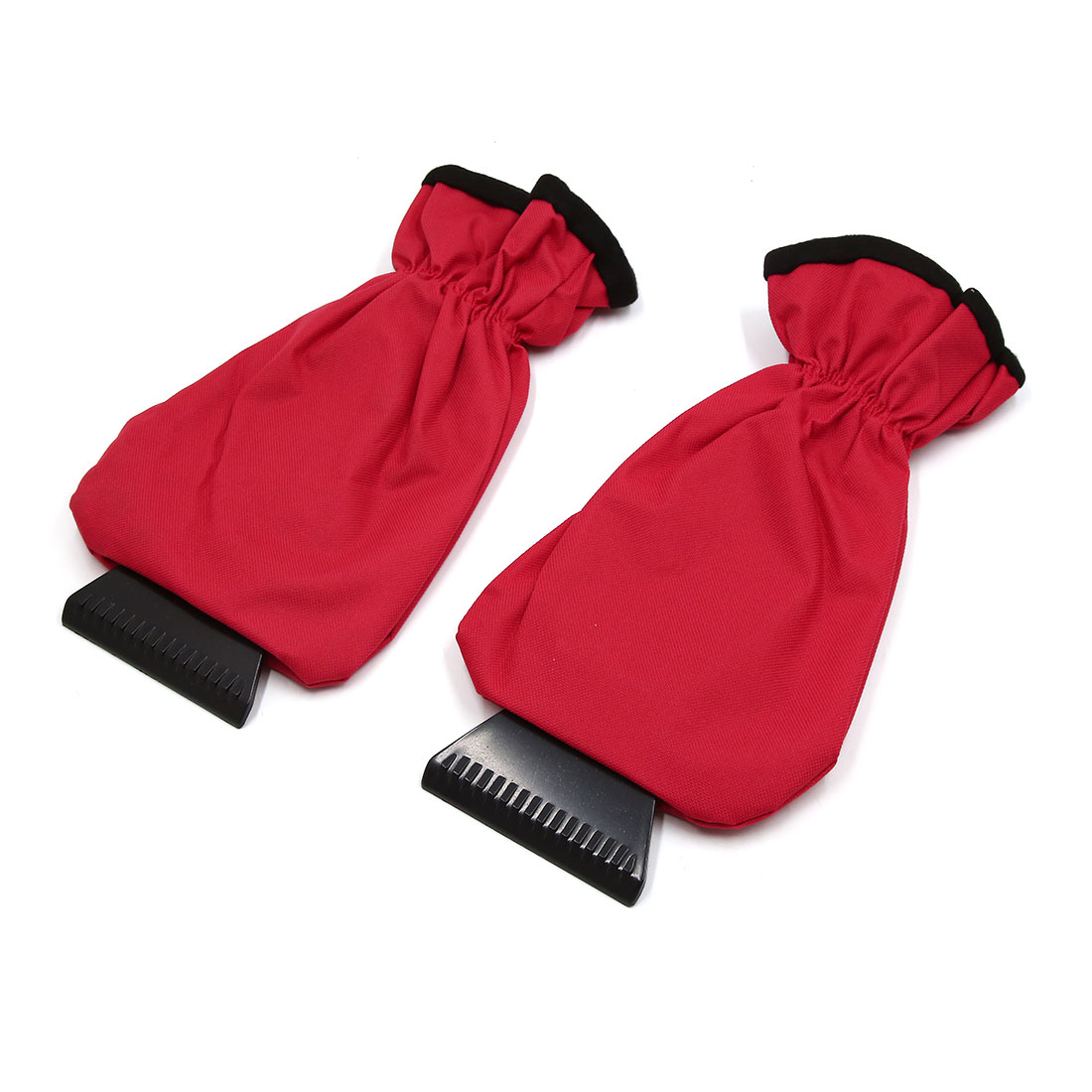 2pcs Red Black Antifreeze Car Windshield Ice Snow Scraper Cleaner Removal Tool