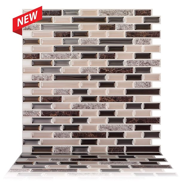 Tic Tac Tiles 5 Sheet 12 X 12 Peel And Stick Self Adhesive Removable Stick On Kitchen Backsplash Bathroom 3d Wall Sticker Wallpaper Tiles In Como Crema Walmart Com Walmart Com