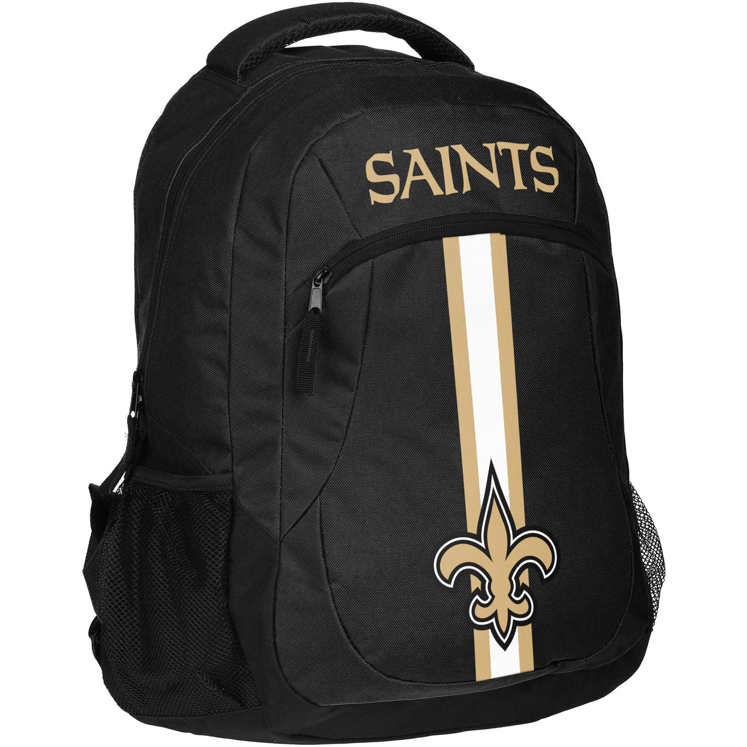 Forever Collectibles NFL New Orleans Saints Action Stripe Logo Backpack
