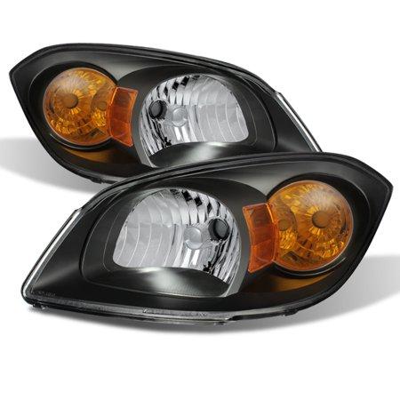Fit 2005-2010 Chevy Cobalt 07-09 Pontiac G5 Black Headlights L+R Replacement