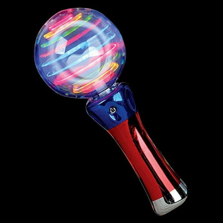 Super Cool Meteor Storm LED Changing Pattern Spinner Wand, Light Storm Wand Toy, Wands, Wand Toys, Great for Spinner Wand, the ultimate light party - Toy Wands