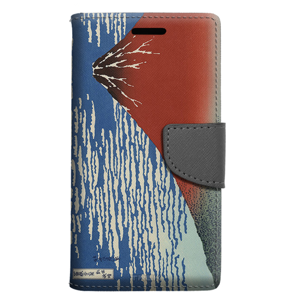 ZTE Sonata 3 Wallet Case - Katsushika Hokusa Red Fuji Southern Wind Clear Morning Case