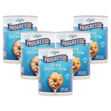 - (5 Pack) Progresso Soup Low Fat Light Chicken Vegetable Rotini Soup 18.5 oz Can