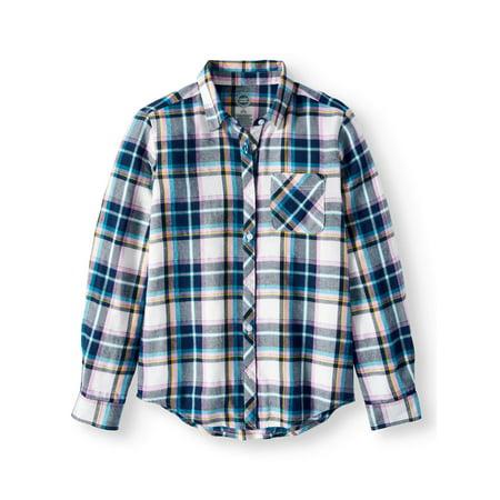 Plaid Flannel Button Down Shirt (Little Girls & Big Girls)