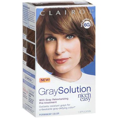 Hair care clairol nice n easy gray solution hair color light brown dark brown hairs - Easy hair care solutions ...