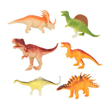 Qiilu 6Pcs Children Dinosaurs Squeeze Toy Soft Plastic Animals Model for Kids Educational Gift , Kids Toy,Dinosaurs Toy - image 5 of 8