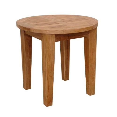 Brianna 20 in. Round Mini Side Table - Unfinished