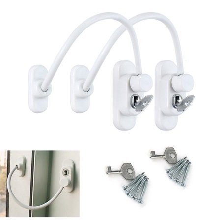 High Quality Window Door Restrictor Security Locking Cable Wire Safe Lock (High Security Doors)
