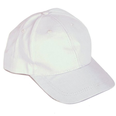12ct Solid 6-Panel Low Crown Constructed Baseball Caps, Plain White, Adjustable