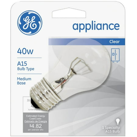 6 Pack - General Electric Appliances 40W, 15 Amp Bulb 1 ea