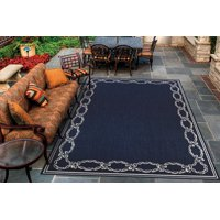 Recife Rope Knot Ivory-Indigo Indoor/Outdoor Area Rug - Multiple Sizes